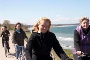 Radtour auf der Steilküste