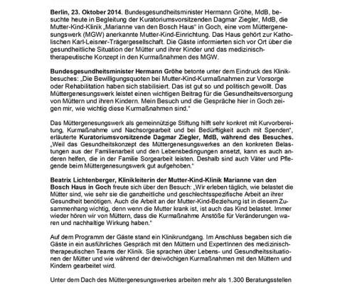 Presse Mitteilung: BundesministerGroehe-beim-MGW