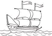 Ausmalbild: Schiff
