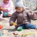 Kleinkind am Strand