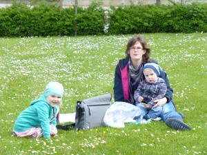 Picknik Mutter und Kind