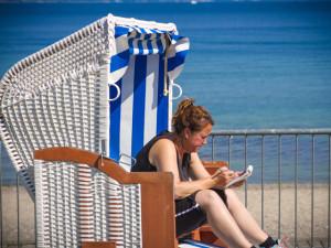 Sonne genießen im Strandkorb