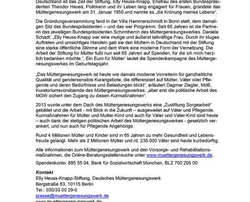Presse Mitteilung: 65-Jahre-MGW
